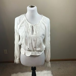 Astr The Label White Eyelet Blouse